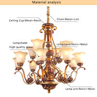 2 layer modern home decorative led wedding decoration chandelier