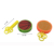 Mini plastic flying disc toy shooting toys flying saucer for kids