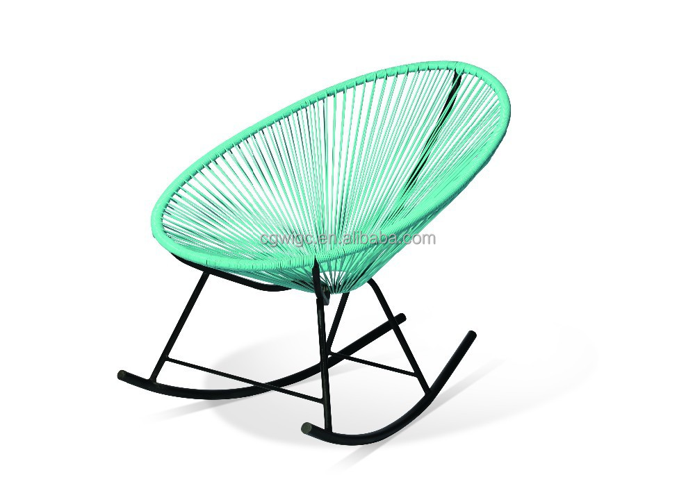 venta caliente del marco del metal con pe silla mecedora