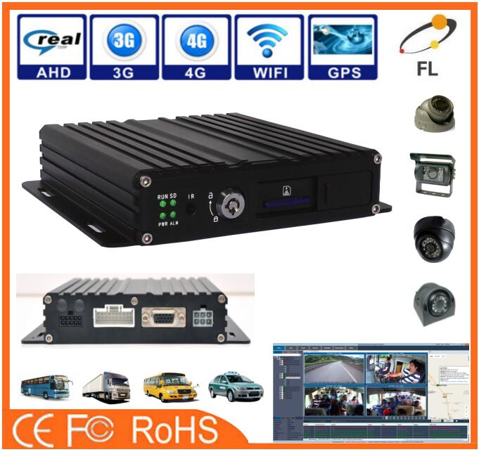 Economical AHD 720P 960P Single SD card G-Sensor GPS 3G 4G WIFI mobile DVR 4 channel dvr built-in UPS power off protection