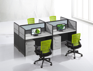 Modular sit stand computer desk call center office modern partition 2 person/3 person/4 person workstation