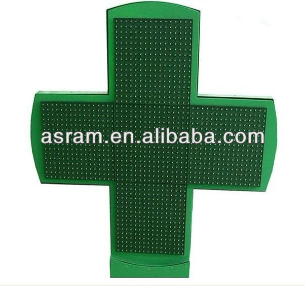 3D/2D effect outdoor double or signgle side LED aluminum pharmacy cross panel