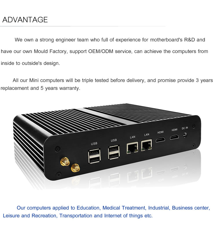 Intel i7 mini pc with 2 lan network gaming computer