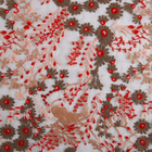 New arrivals stock floral mesh tulle embroidery fabric african lace for nigeria parties