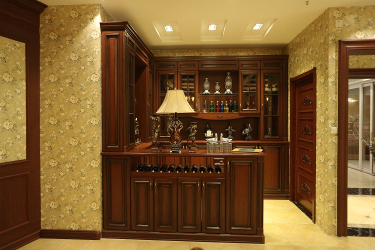 XINBIYUAN wholesale antique wooden wine cabinet with glass display