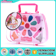 ITCI,GMPC,SEDEX,EN71 certificated Portable plastic handbag girls fashion kids makeup set