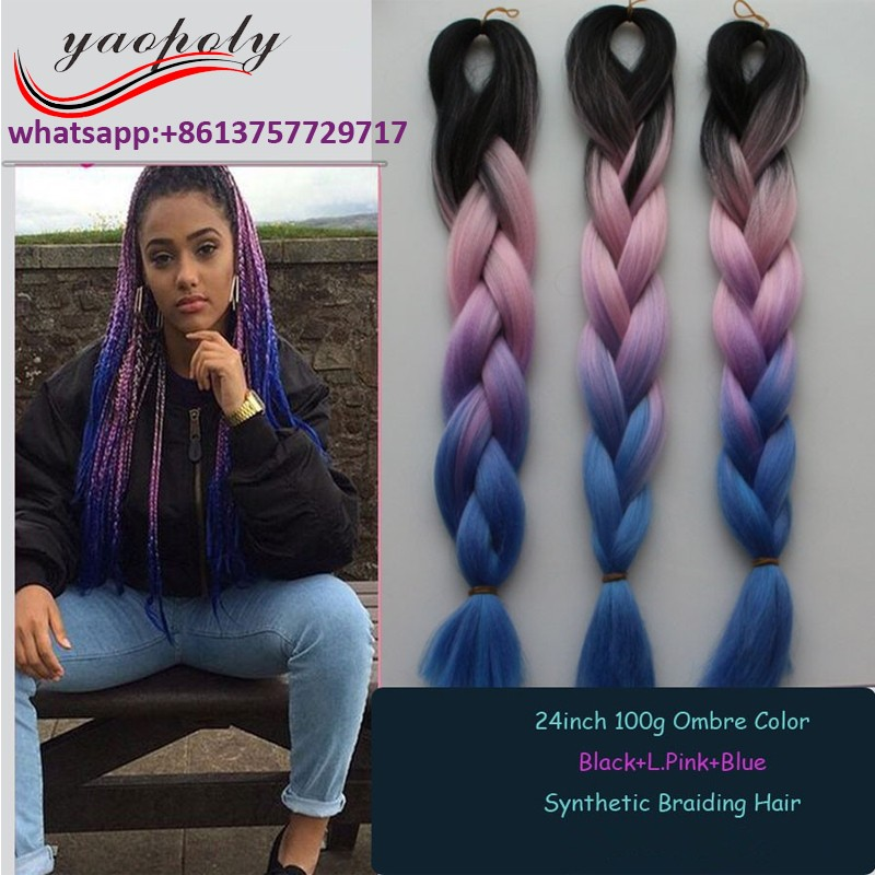 High Quality Ombre Color Jumbo Braids Afro Yaki Braids Afro Twist