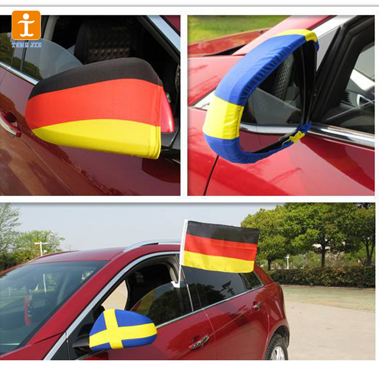 Custom car window flag printing with holders