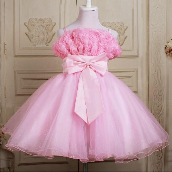 girls dresses 2015 summer children flower princess dress kids clothes party girl dresses D-033