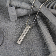 고무 한 보석 모스 code necklace hidden message necklace men <span class=keywords><strong>목걸이</strong></span>