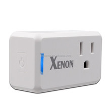 Xenon Zwave outlet plug intelligent smart home plug control by app US plug socket smart row