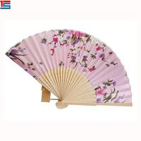 Most Popular Sublimation Flowery Wood Hand Held Fan