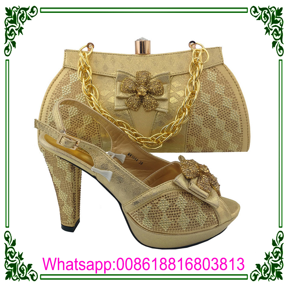 Bags green Shoes Sets Shoes Bags African Dress And Matching Quality 2017 High And Lemon natqOF4wX