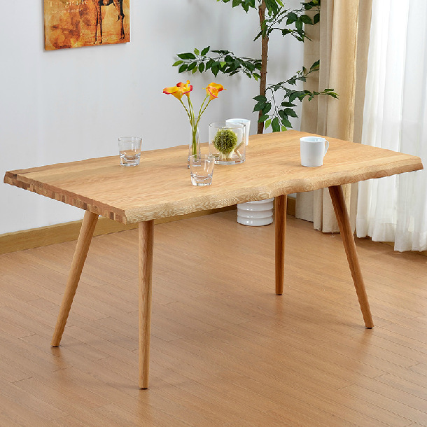 Modern Oak Dining Tables: White Oak Solid Wood Dining Table / Modern Simple Nordic