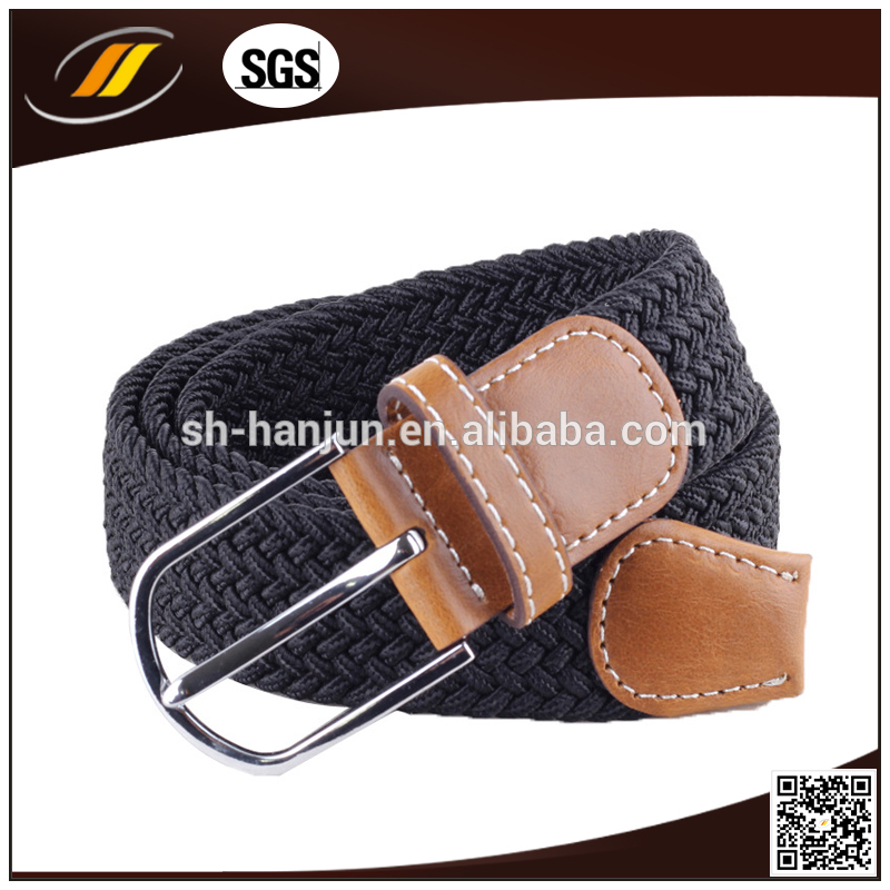 Factory Promotion Western Braided Elastic Stretch Belt with Square Buckle