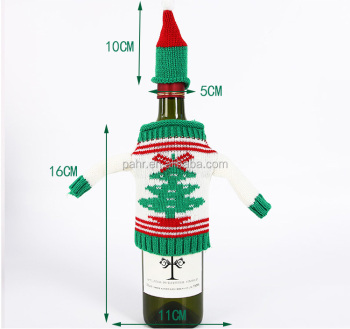 ugly christmas decorations santa claus mini wine bottle bag christmas wine bottle sweater