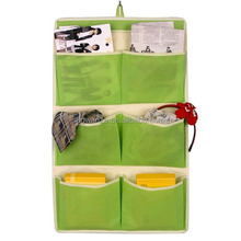 6 Pockets Non Woven Fabric Hanging Wall Storage Organizer