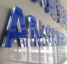 Laser cutting acrylic 3D advertising letter words with acrylic sheet