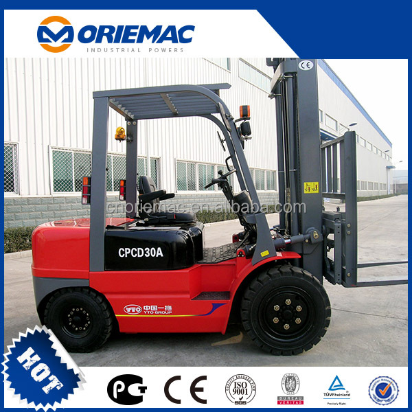 Used forklift YTO electric forklift CPD35 for sale in singapore
