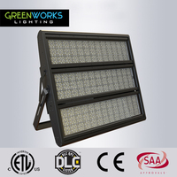 Project lighting 1000W 1200W led high mast flood light For Football Stadium