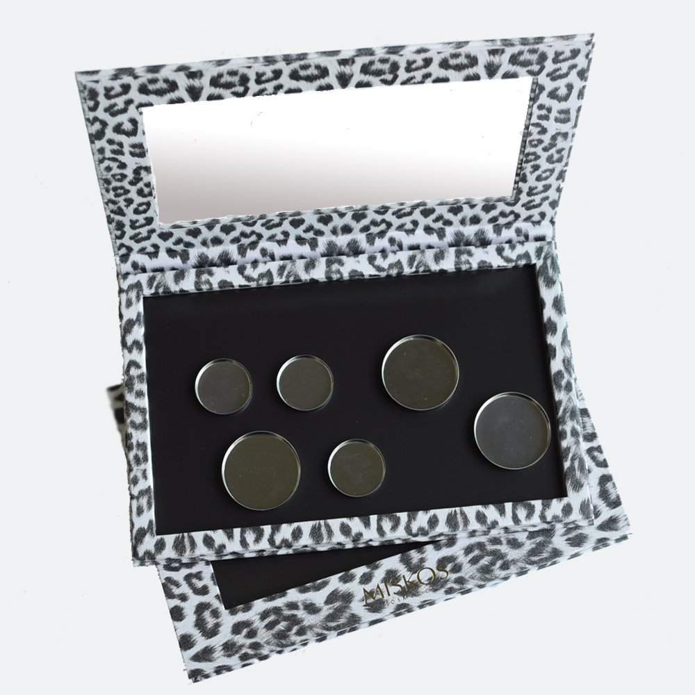 8b6050d31 Get Quotations · MISKOS Empty Eyeshadow Palette Magnetic Leopard Color  Professional Eye Shadow Containers Case For Blush Eye Lip