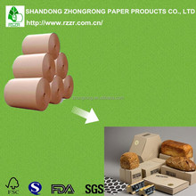 Single Side Poly Coated Kraft Paper for kinds of Packages, food grade, good greaseproof, waterproof