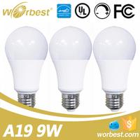 UL listed LED Bulbs warm white 3000K 9W Dimmable LED Bulb Light E26 base 60 Watt Incandescent Bulbs Equivalent
