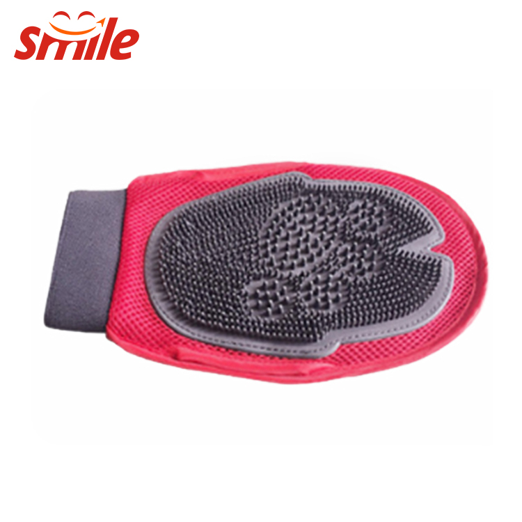 New DesignTwo Side Pet Grooming Glove Bathing Massage Brush For Pet