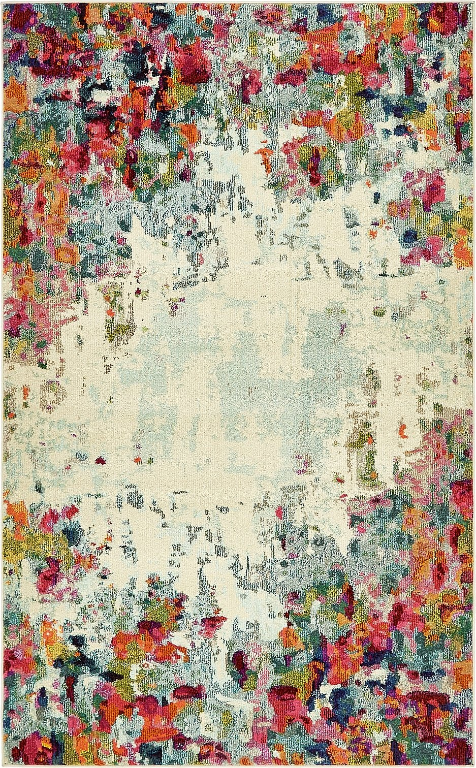 Island Collection Modern Contemporary Rugs Living Dinning Bedroom Area Rug 5' x 8', Multi