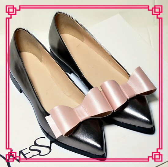 Latest Flower Girl Shoes Flats 2015 New Designs Flats Pointed Girl ...