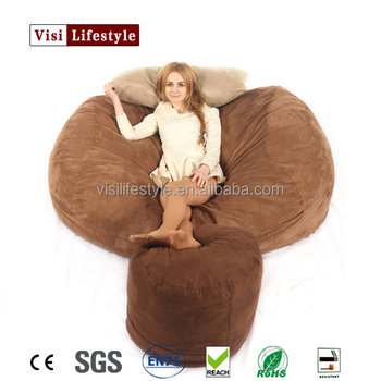 Visi Foam Beanbag Living Room Sofa Bed Giant Soft Shredded Bag Compressed Chair Large