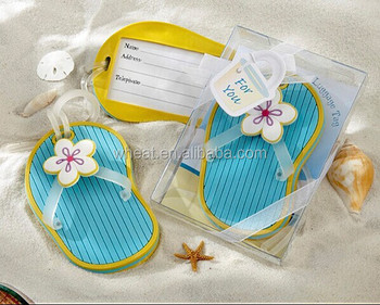 443692611 Flip Flop Luggage Tag In Beach Themed Gift Box - Buy Flip Flop ...