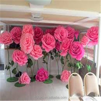 The Best Fashion Choice Walls Paper Flower High Quality Artificial Paper for Wedding Wall Backdrop