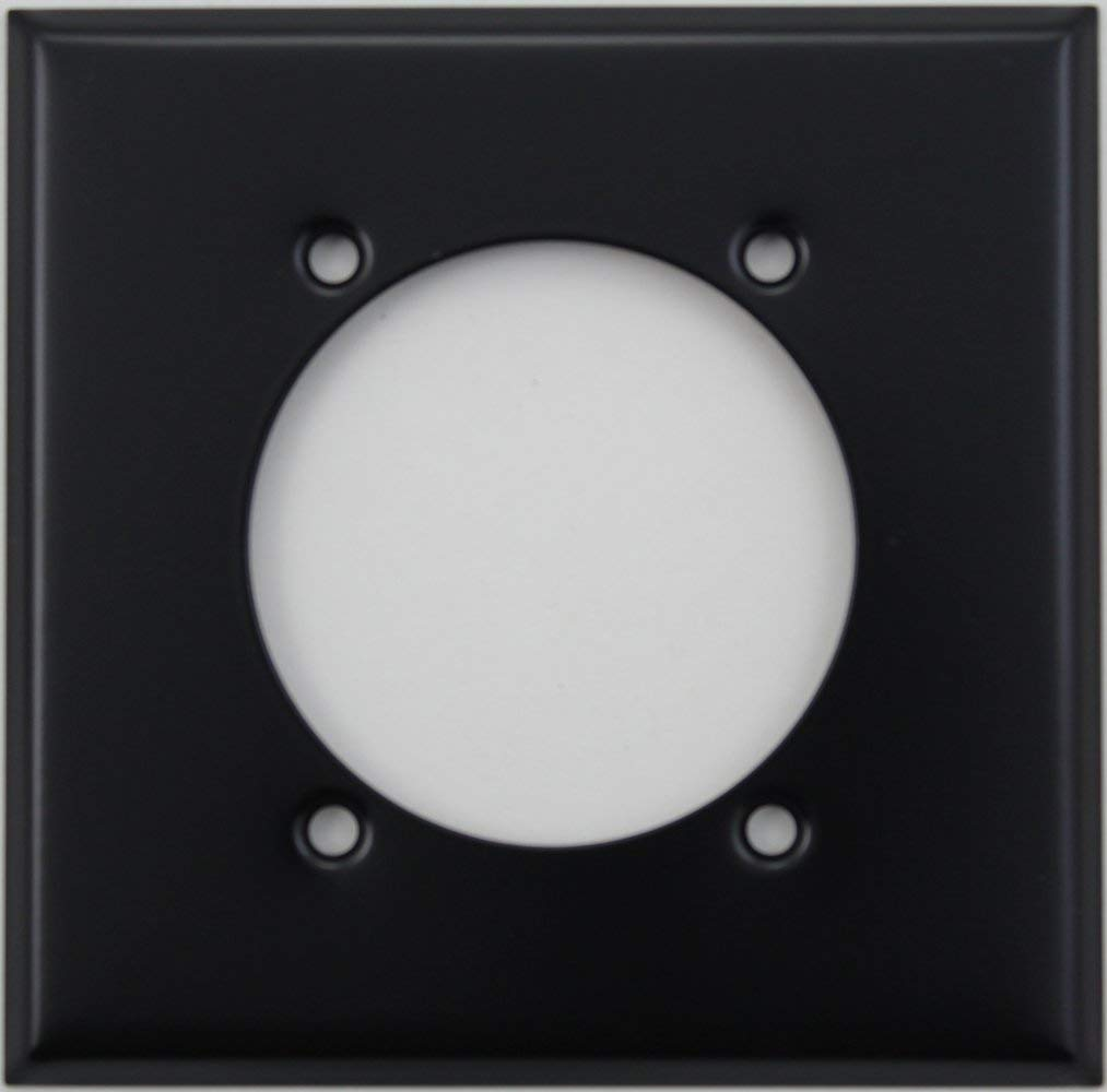Get Quotations · Black Two Gang Wall Plate for One Dryer Electric Range  Electrical Outlet d11e293b2