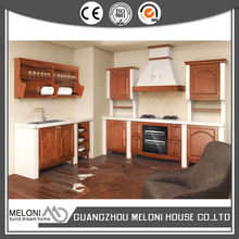 mahogany wood color solid wooden kitchen cabinet furniture