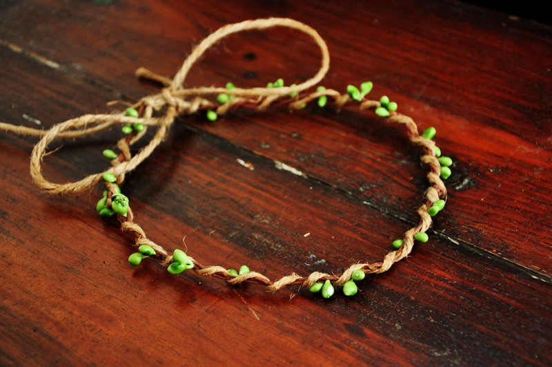 10 PCS Handmade Rustic Dainty Green Pip Berries Twine Wreath Flower Crown  Festivals Feminine Whimsical Fresh Cute Christmas Gift - us732 c45a3f720dc
