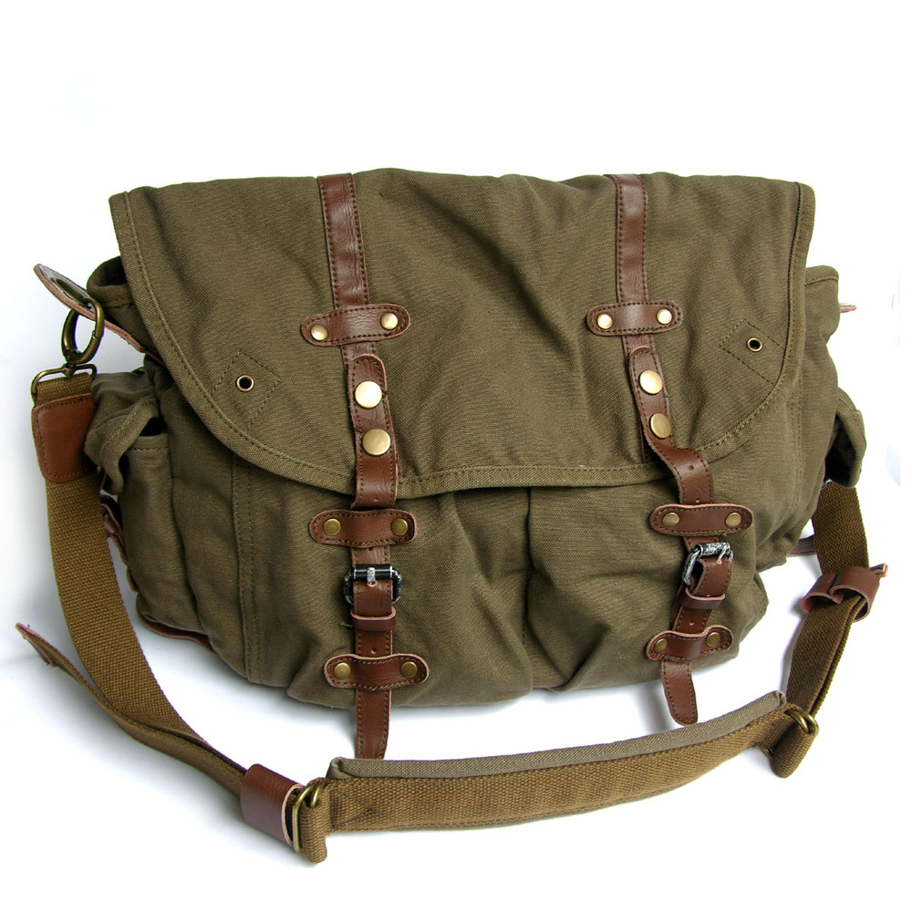 2810 Multi Purpose Retro Casual Big Size Canvas Adjustable Strap ...