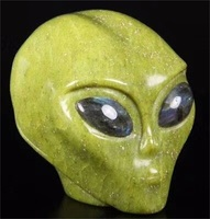 Hot sale high quality new product natural stone alien skulls for Halloween Decoration