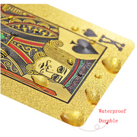 Wholesale Custom Plastic Waterproof 24K 999.9 Gold Plated Foil Edge Poker Gold Playing Card