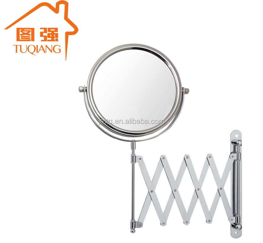 Extension wall mounted metal bathroom mirror