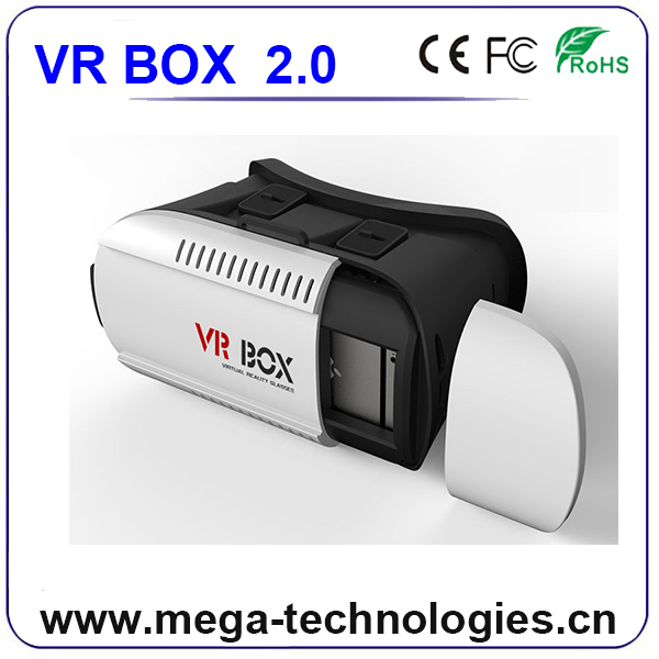 V2 Version Virtual Reality 3d-brille VR Headset 3d-brille für 1080 p film video offene video display