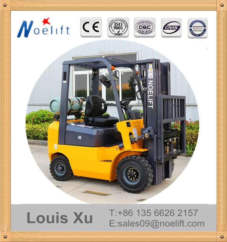 Dual fuel Low price of forklift 1-1.8Ton 3-6M Lifting Height gasoline & LPG forklift truck