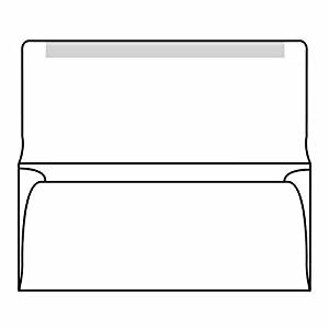 "#6-3/4 Collection/Remittance Envelopes, 3-5/8"" x 6-1/2"" 24# Recycled White, Open Side, Flaps Extended (Box of 500)"