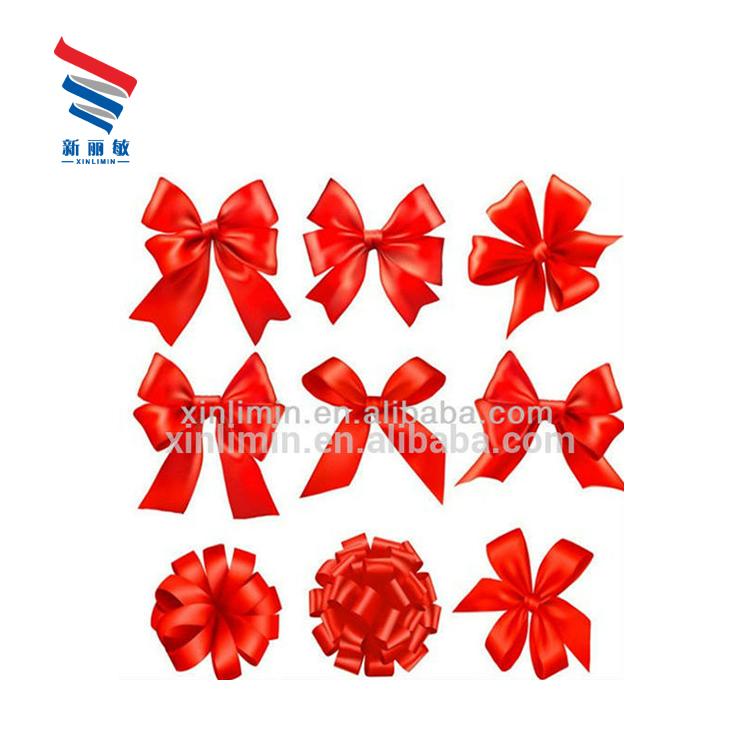 カスタムサイズ人気の卸売梱包事前メイドネクタイ赤スモールミニサテンリボンプル弓