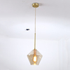 Zhongshan Factory Wrought Iron Hanged Led Lighting Fixture Clear Glass Shade Pendant Lamp for Kitchen Coffee Bar