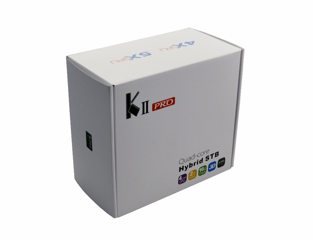 KII Pro Android <strong>TV</strong> <strong>Box</strong> 2GB+16GB DVB-S2 DVB-T2 Kodi Pre-installed Amlogic S905 Quad-core Bluetooth Smart Media Player