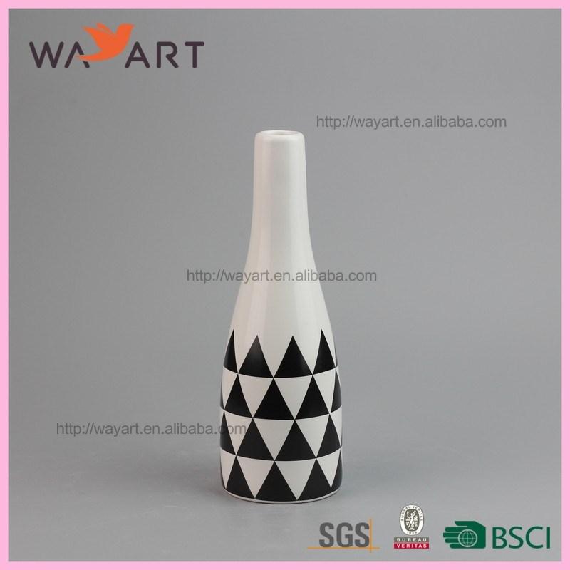 Custom Painting Designs Bottle Shape Ceramic Flower Vase Buy