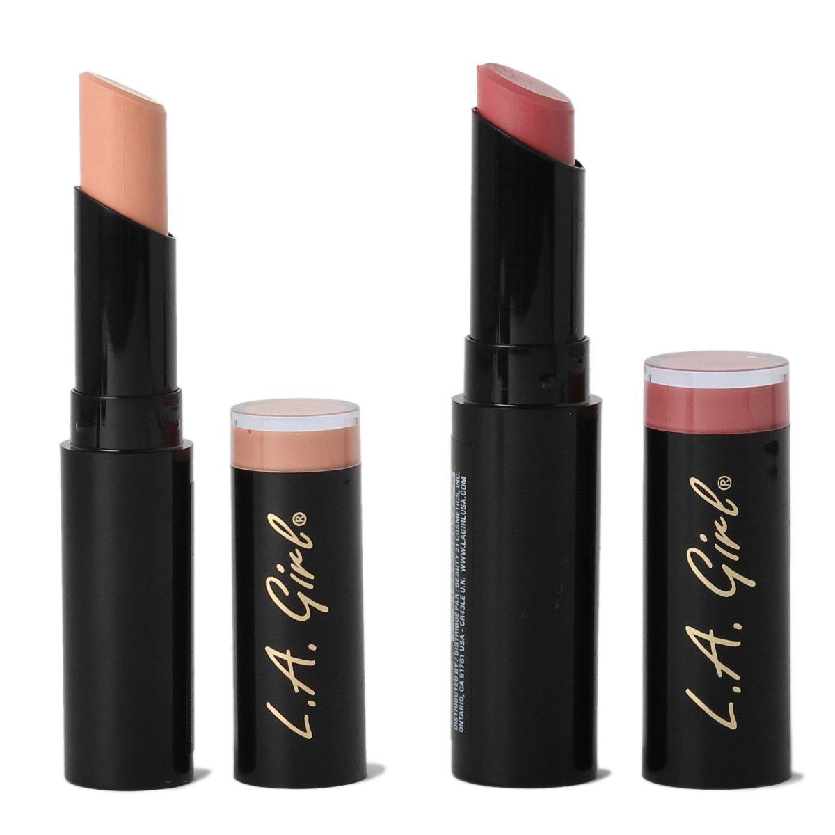 L.A. Girl Matte Flat Velvet Lipstick Pigment Makeup -Carried Away-Hush