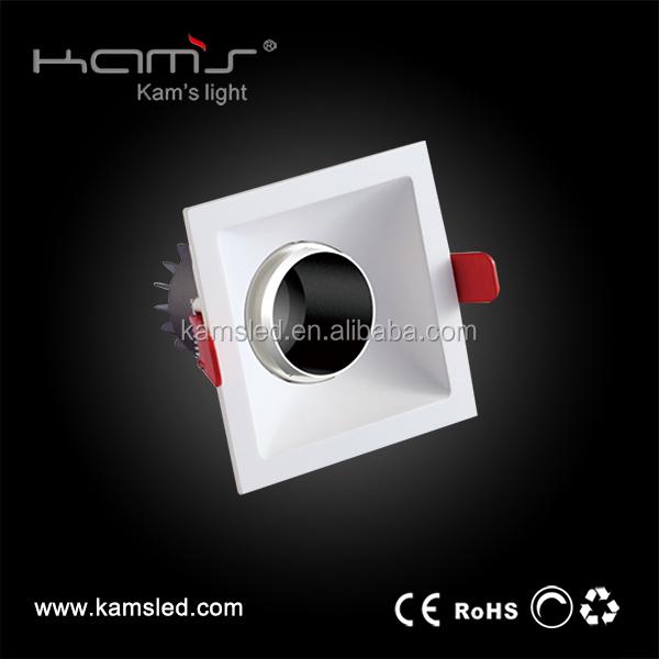 best high quality 960lm gimbal square spotlight Ra 80 12W COB LED Downlight