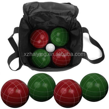 Bocce Ball Set Red Green Official Tournament Size Weight
